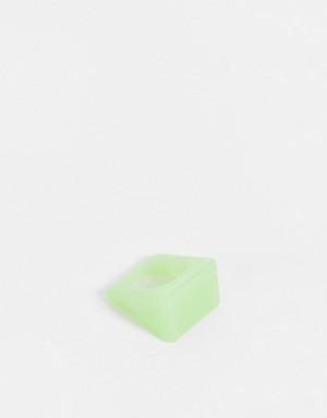 Светящееся в темноте пластмассовое кольцо зеленого цвета ASOS DESIGN-Зеленый цвет